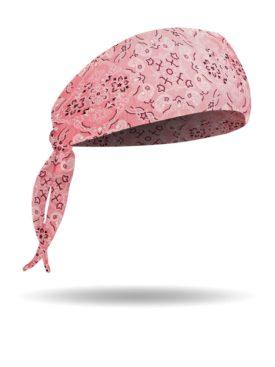 BB1212-VP-Pink-Bandana Print-Biker Band Headband