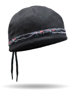 CLB-100-Rose & Barbed Wire-Cord Lock Beanie