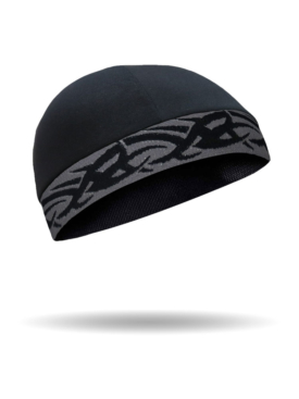 CMCC01-Skull Cap-GreyTribal-on Black Skull Cap