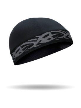 CMCC02-Skull Cap-Tribal Grey On Black