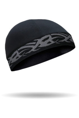 CMCC02-Skull Cap-Tribal Grey On Black