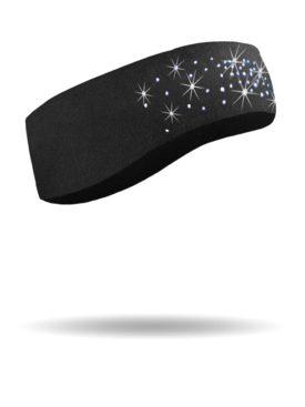 FHB1412-Dazzled-Black-Fleece Headband