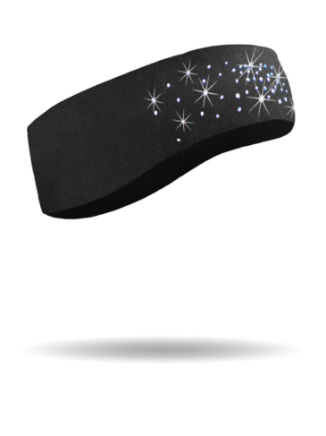 FHB1412-Dazzled-Black-Fleece Headband