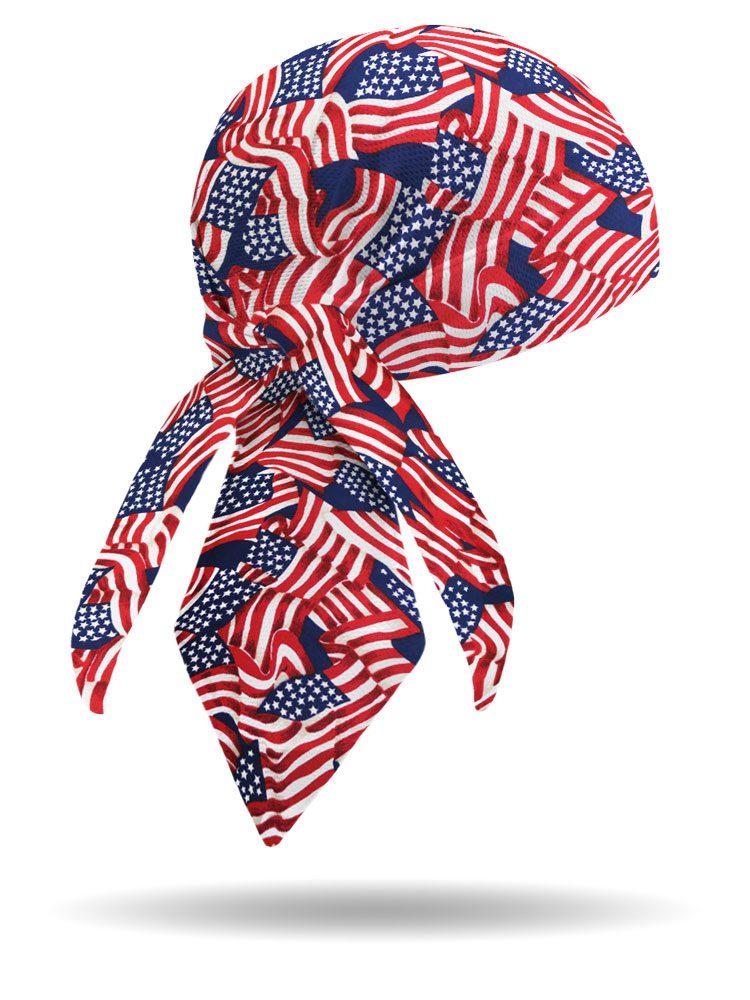 Americana Wavy Flag Headwrap