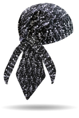HW1400-Dancing Skeletons-Headwrap