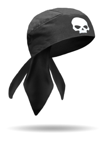HW1722-Glow in the Dark Skull-Headwrap