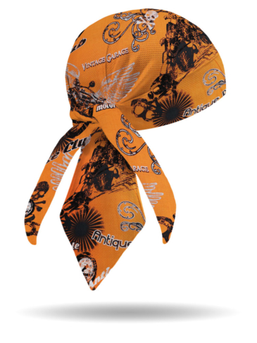 HW2832-Orange-Retro Inspired Headwrap