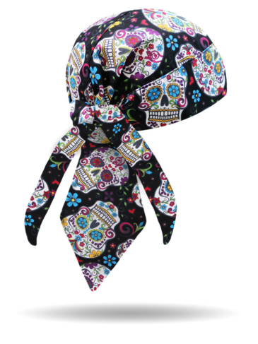 HW2951-Sugar Skulls-Headwrap