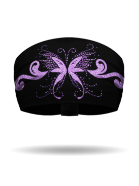 KB1125-Purple-Angel Butterfly-Knotty Band