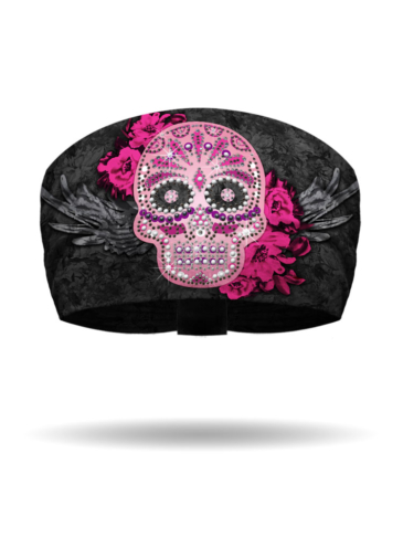 KB1311-Pink-Candy Skull Knotty Band