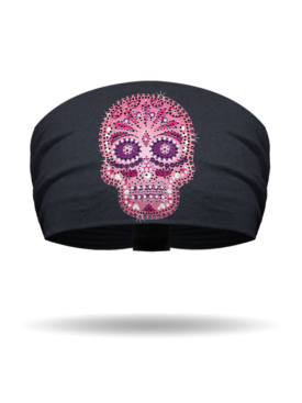 KB1317-Pink-Candy Skull-Knotty Band
