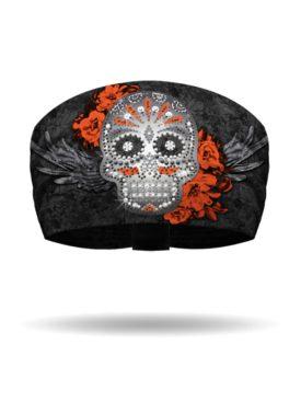 KB1317-Black-Candy Skull Knotty Band