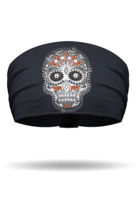 KB1317-Black-Candy Skull-Knotty Band