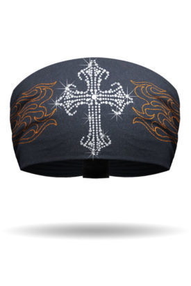 Studded Cross & Embroidered Flames Knotty Band™ Collection