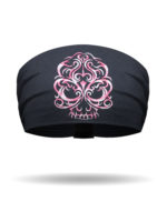 KB1610-PinkOmbre-EmbroideredBaroqueSkull-Knotty Band