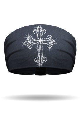 KB1725-Gothic Cross Rhinestud-Knotty Band