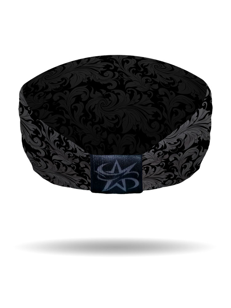 Skull Amp Scolls Knotty Band Bling Biker Headband