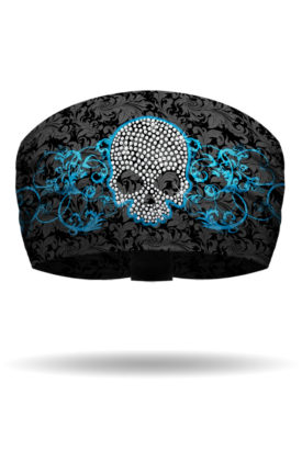 KB2924-Turquoise-Skull & Scroll-Knotty Band