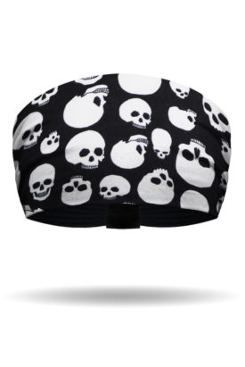 Black and White Tossed Skulls Knotty Band™