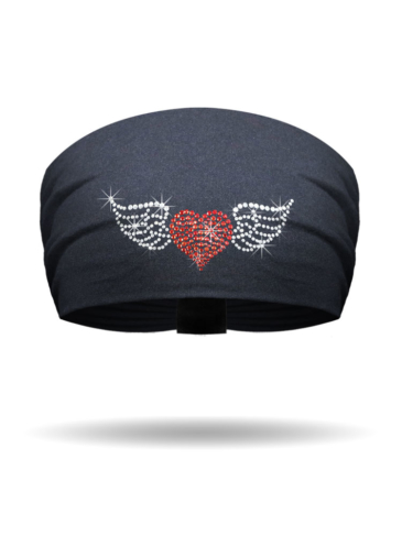 KB3321-Winged Heart Rhinestone-Knotty Band