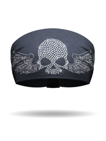 KB3322-Crystal-Winged Skull-Knotty Band