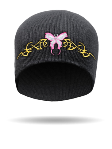 SB-14-Embroidered Tribal Butterfly-Beanie
