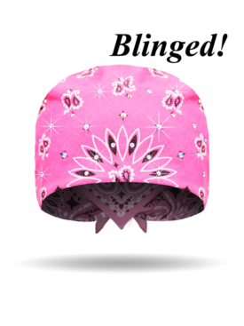 30R-Hot Pink-Bandana-Blinged