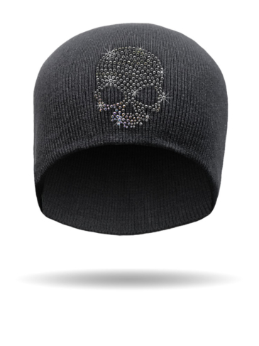 B3323-Black Diamond Skull-Beanie