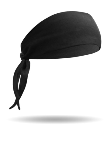 BB1222-Solid Black-Biker Band-Headband