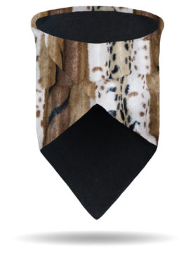 FFG1318-Chinchilla-Faux Fur Scarf Gaiter