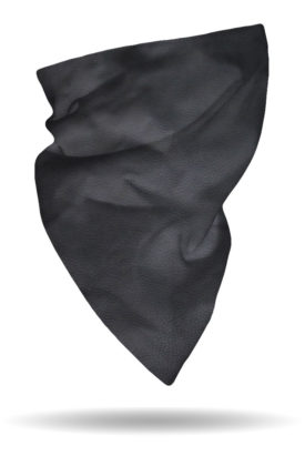 FG2215-Black-Leather Look Polartec Fleece Gaiter