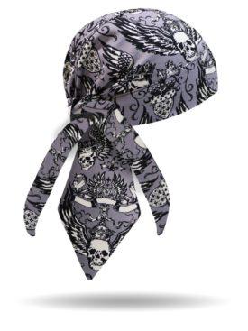 HW2813-Winged Skulls-Headwrap