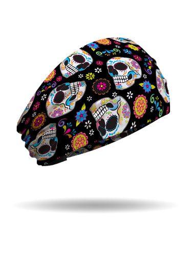 Fiesta Skulls Knotty Band Sugar Skull Themed Made In