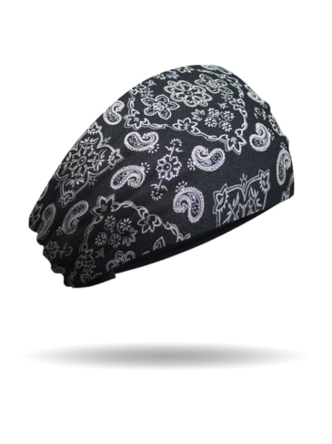 KB1624-Black-Foil Bandana-Knotty Band