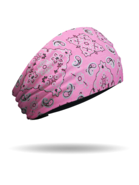 KB1625-Pink-Foil Bandana Knotty Band