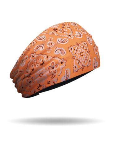 KB1637-Orange-Foil Bandana-Knotty Band