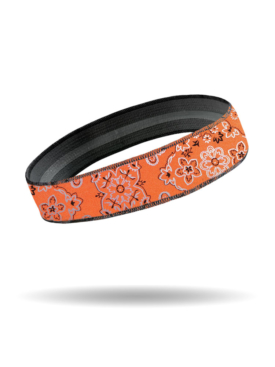 HG1637-Orange-Foil Bandana-HeadGrippers-Headband