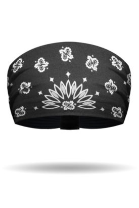 KB2607-Black-Classic Bandana-Knotty Band