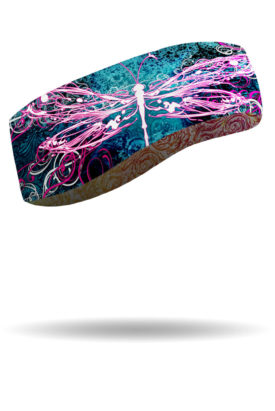 FHB1428-Dragonfly-Micro-Fleece Headband