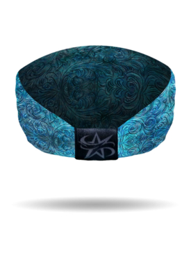 KB3025-Blue-Tooled Leather Knotty Band