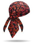 15410T-Love Peace Happiness Characters Headwrap