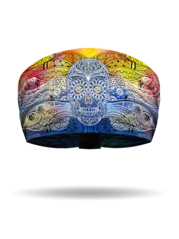 KB3021-TyeDye-Tiki Skull-Knotty Band