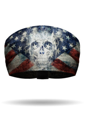 KB2614-Patriotic Ghost Skull-Knotty Band Headband