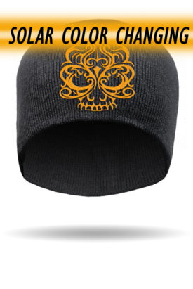 Solar Powered! Color Changing Embroidered Beanie
