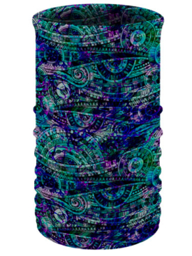 Blue-Kaleidoscope-Head & Neck Tube
