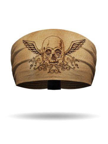 KB1239 Branding Iron Skull Knotty Headband