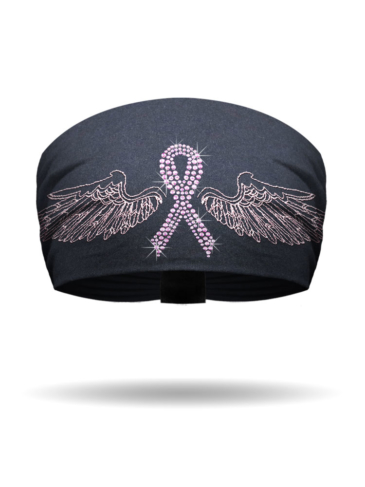 KB2628-Pink Ribbon Wings-BLING-Knotty Band