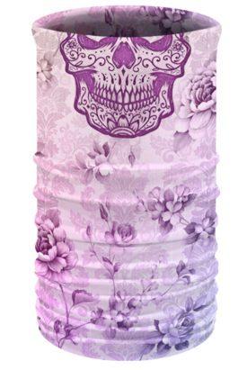 TU1622 Floral Sugar Skull-Headwear and Neckwear Tube