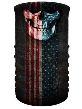TU2611-Patriotic Skull-Head & Neckwear Tube