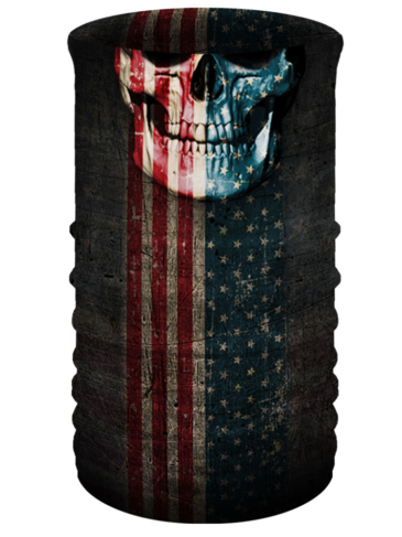 TU2611-Patriotic Skull-Head & Neckwear Tube